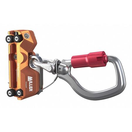 Honeywell Miller Fall Arrest Device,  8 1/2 in,  310 lb Weight Capacity,  Silver/Orange 27441C