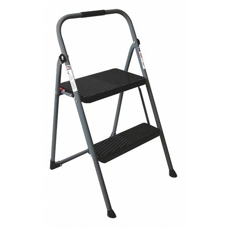 Awesome 2 Steps Folding Steel Step Stand 225 Lb Load Capacity Gray Black Inzonedesignstudio Interior Chair Design Inzonedesignstudiocom