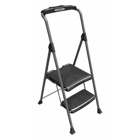 Pleasing 2 Steps Folding Steel Step Stand 225 Lb Load Capacity Silver Black Inzonedesignstudio Interior Chair Design Inzonedesignstudiocom
