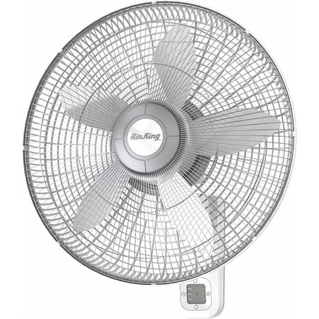 """Air King 18"""" Wall Mount Fan,  Oscillating,  3 Speeds,  120VAC,  Remote Control 9850"""