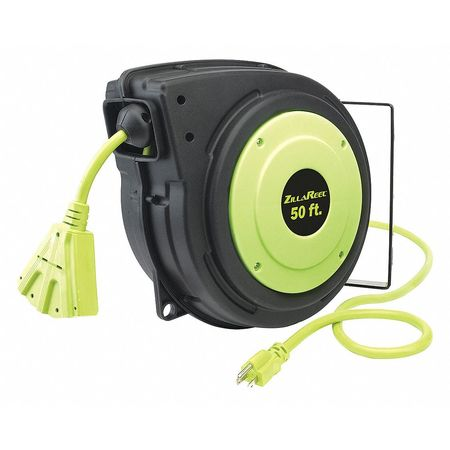 Legacy 50 ft. 14/3 Retractable Cord Reel 15 Amps 3 Outlets 120VAC Voltage FZ8140503