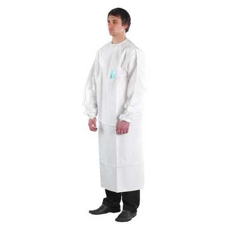 Ansell Disposable Lab Coat, 4XL, White, PK30 68-2000