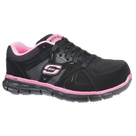 Work Shoes, 7 12, M, Black, Alloy, Womens, P