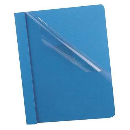 """Oxford Clear Front Report Cover 8-1/2 x 11"""",  Blue,  3 Fasteners,  Pk25 58801"""