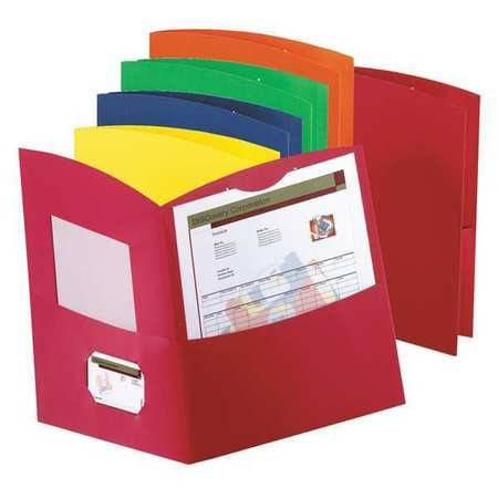 Oxford Two-Pocket Folder,  Recycled Paper,  Assorted Colors Pk25 5062500