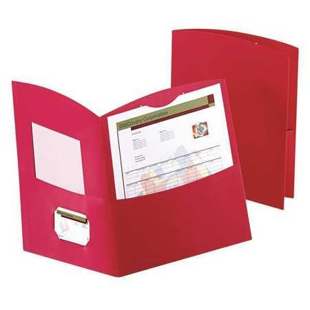 Oxford Two-Pocket Folder,  Recycled Paper,  Red,  Pk25 5062558