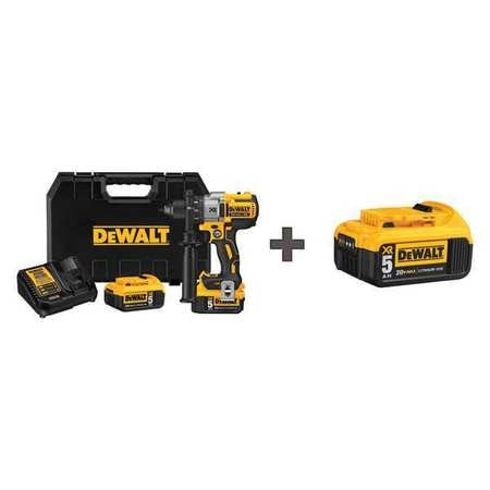 Dewalt 1/2 in,  20V DC Cordless Drill,  Battery Included DCD991P2 / DCB205