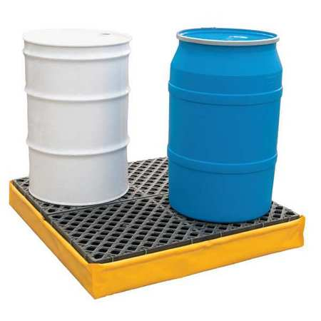 Ultratech Drum Spill Containment Pallet,  66 gal Spill Capacity,  4 Drum,  2400 lbs.,  Polyethylene 1346