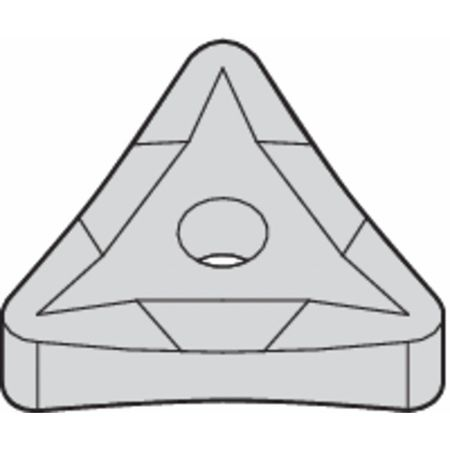 Widia Triangle Turning Insert,  Triangle,  1/2 in,  TNMP,  0.0312 in,  Carbide TNMP432