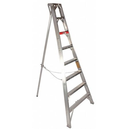 Stokes 12 ft Aluminum Tripod Orchard Stepladder,  300 lbs. Capacity 1112H