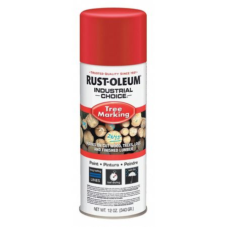 Rust-Oleum Tree Marking Paint,  12 oz.,  Red,  Solvent -Based 306516