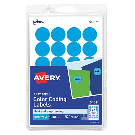 Avery® Light Blue Removable Print or Write Color Coding Labels for Laser  and Inkjet Printers 5461, 3/4