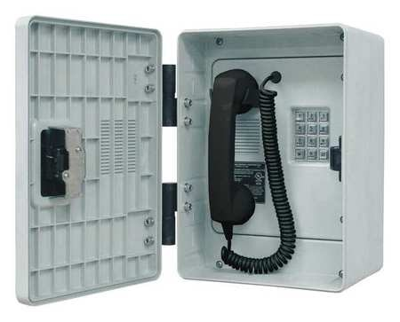 Hubbell Gai-Tronics Telephone, Industrial Outdoor, Gray 256-001LDSK
