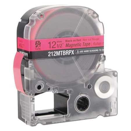 Epson Magnetic Tape Cartridge,  Black on Red,  Labels/Roll: Continuous 212MTBRPX