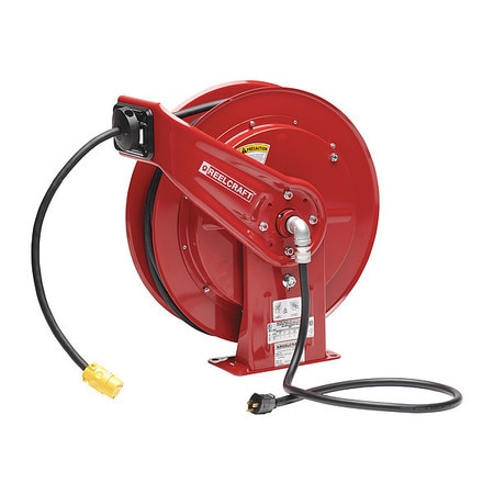 Reelcraft 100 ft. 12/3 Retractable Power Cord Reel 15.0 A Amps 1 Outlets L 70100 123 3