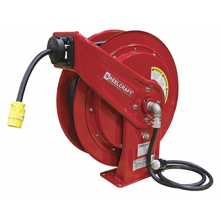 Retractable Extension Cord Reel >> Reelcraft Retractable Power Cord Reel With 100 Ft Cord 1 Outlet 12