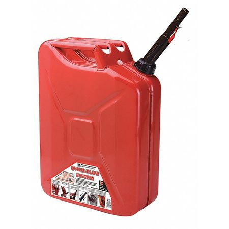 Safety Gas Can >> 5 Gal Red Steel Military Style Gas Can