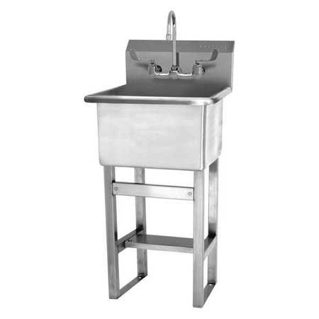 Utility Sink.Stainless Steel Utility Sink With Faucet Bowl Size 18 X 18