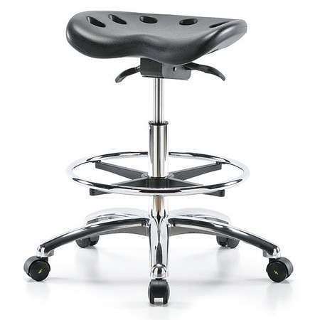 Superb Poly Esd Tractor Sit Stand Stool Chrome Med Bench Foot Ring Black Ocoug Best Dining Table And Chair Ideas Images Ocougorg