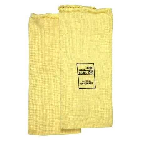 L,Yellow MCR SAFETY 9370 Cut Resistant Sleeve,8 in
