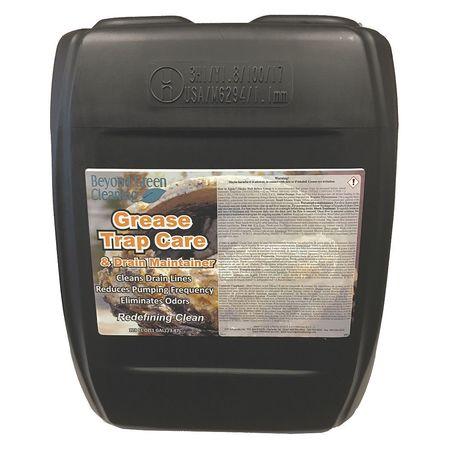 Beyond Green Cleaning Liquid 5 gal. Grease Trap Treatment,  Pail 9300-005