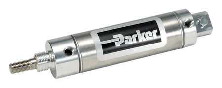 Parker Air Cylinder,  1 1/16 in Bore,  2 in Stroke,  Round Body Double Acting 1.06DPSR02.00