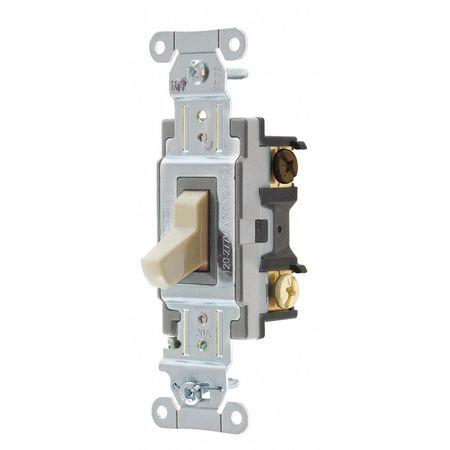 hubbell wiring device-kellems wall switch, 20a, ivory, 1 hp, 3-way switch  csb320i | zoro com
