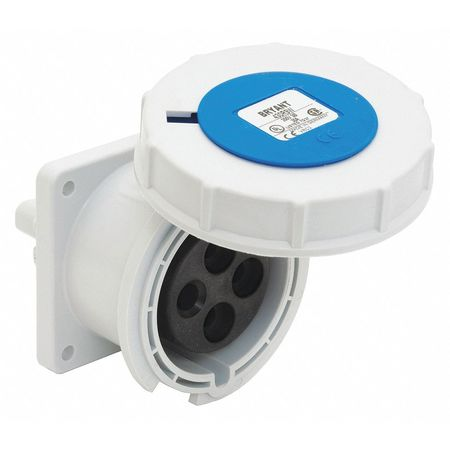Bryant Pin and Sleeve Receptacle, Blue, 240VAC BRY320R6W