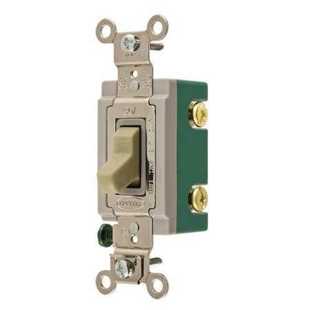 Switch, Ivory, 30A, 2-Pole Switch, 1 to 2 HP