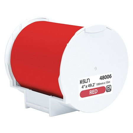 Epson Label Tape,  Red,  Labels/Roll: Continuous 48006