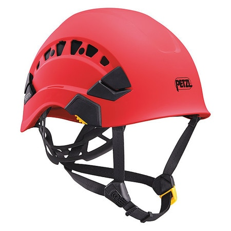 Petzl Front Brim Hard Hat,  Type 1,  Class C,  Ratchet (6-Point),  Red A010CA02