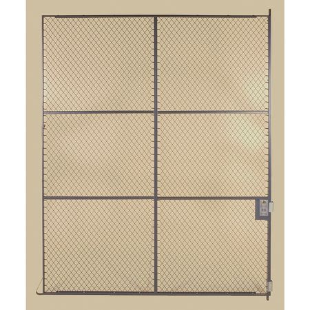Folding Guard Wire Partition Sliding Door, 8 ft x 12 ft SSF 812 CYL