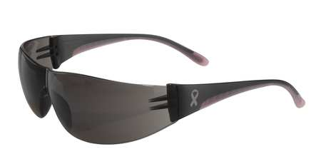 Bouton Optical Safety Glasses,  Wraparound Gray Polycarbonate Lens,  Scratch-Resistant 250-10-5501