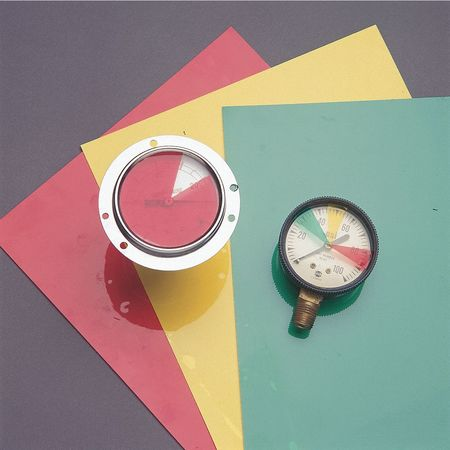 Transparent Adhesive Polyester 9 Width Red Color Gauge Marking Label 9 Width Brady 30697 10 Height