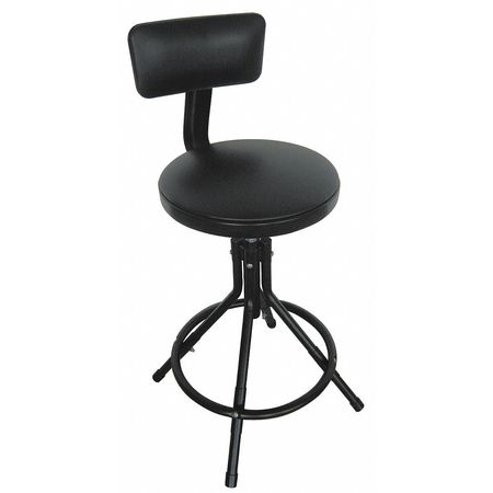 Super Round Stool With Backrest Height 24 To 28Black Theyellowbook Wood Chair Design Ideas Theyellowbookinfo
