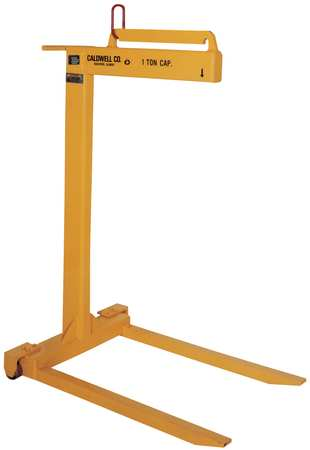 """Caldwell Pallet Lifter, Wheeled, 1T, L36"""" 93W-1-48"""