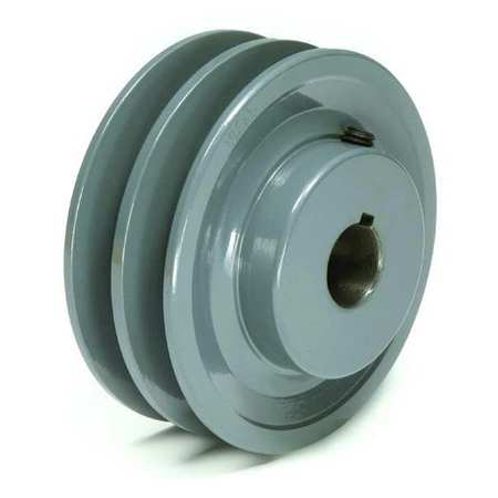 1 Groove 9810 max rpm B Belt Section TB Woods BK2412 FHP Bored-to-size V-Belt Sheave 1//2 Bore Cast Iron 2.55 OD