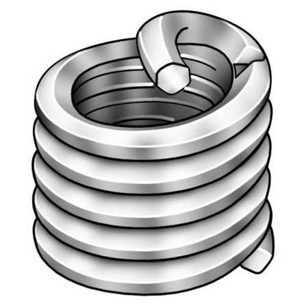Zoro Select Helical Insert, SS, 3/4-16, 1.125 In L, PK5 3534-3/4X1.5D