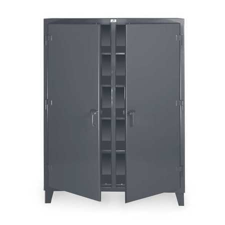 """Strong Hold 12 ga. Steel Storage Cabinet,  60"""" W,  78"""" H,  Shelving,  Stationary 56-DS-248"""