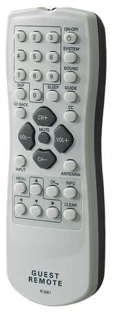 Rca Healthcare TV Extended Guest Remote,  White/Gray R130K1