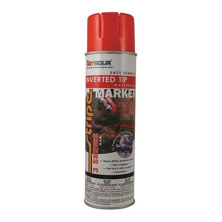Seymour Of Sycamore Inverted Marking Paint,  16 oz.,  Fluorescent Red,  Water -Based 20-354