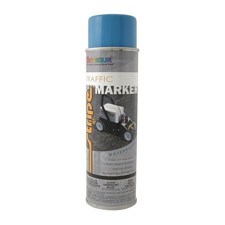 Seymour Of Sycamore Traffic Marking Paint,  18 oz.,  Light Handicap Blue,  Water -Based 20-648