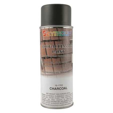 Seymour Of Sycamore Rust Preventative Spray Paint,  Charcoal,  Flat,  12 oz. 16-1703