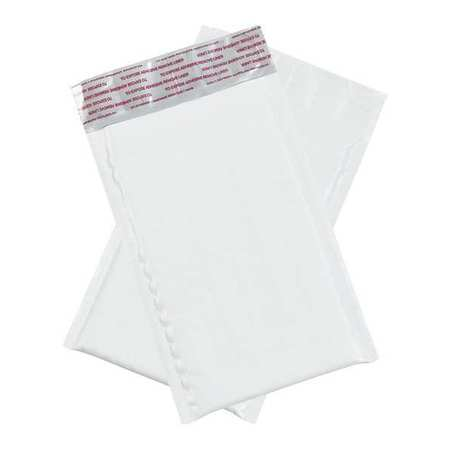 """Partners Brand Bubble Lined Poly Mailers,  4"""" x 8"""",  White,  25/Case B82825PK"""