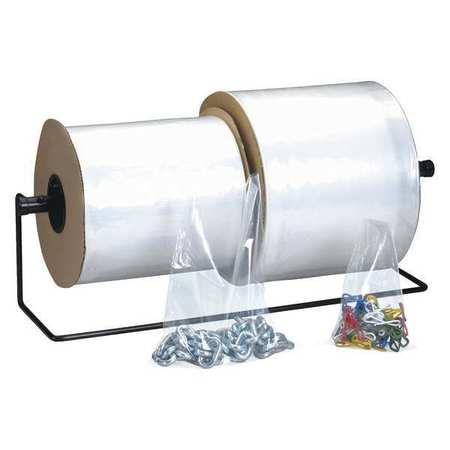 """Partners Brand 3"""" x 3"""" Plastic Bags Roll,  4 mil,  Clear AB303"""