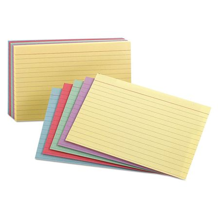 """Oxford Ruled Index Cards, 3x5"""",  Assorted, PK100 40280"""