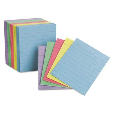 Oxford Index Cards, 1/2 Size, Ast, PK200 10010