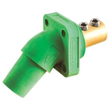 Hubbell Angled Receptacle, Green, Double Set Screw HBLFRAGN