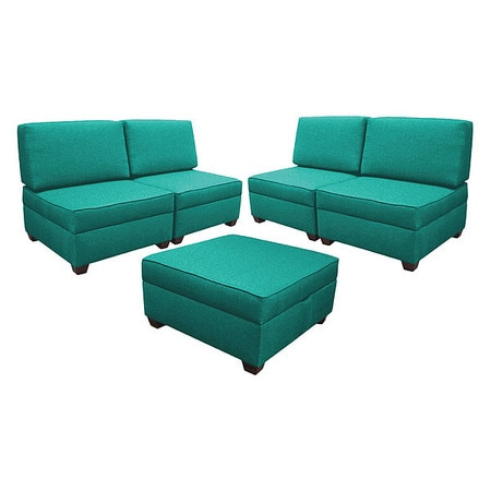 Peachy Storage Sectional Sleeper Teal Green Performance Fabric Ocoug Best Dining Table And Chair Ideas Images Ocougorg