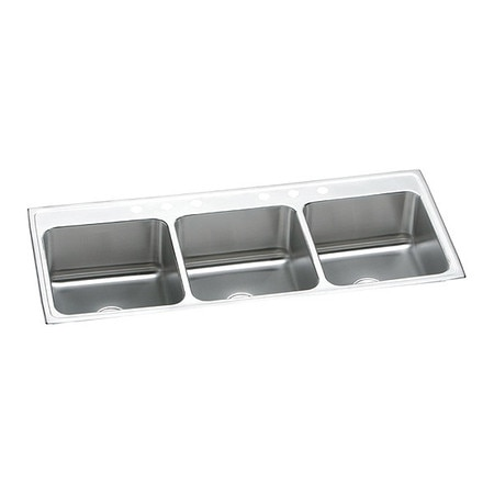 Lustertone SS, 3 Bowl Top Mnt Sink